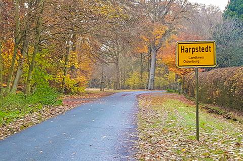 Ortseingangsschild Harpstedt